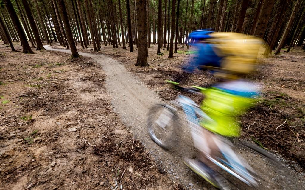 Singletrack v Cyklo Aréně Vysočina